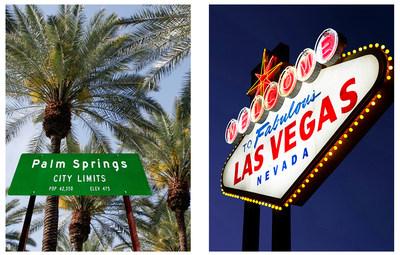 Les vols inauguraux d''Edmonton pour Las Vegas et de Calgary pour Palm Springs ont eu lieu dimanche. (Groupe CNW/Air Canada)