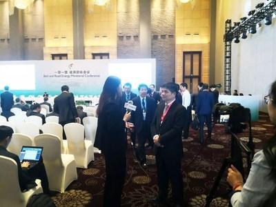 Lin Jianwei, presidente do conselho da Jolywood na Conferência Ministerial de Energia da Iniciativa Cinturão e Rota e Fórum Internacional de 2018 (PRNewsfoto/Jolywood (Taizhou) Solar Technol)