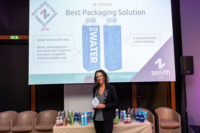 """JUST Water Wins Global """"Best Packaging Solution"""" Award With Tetra Pak Carton Bottle"""