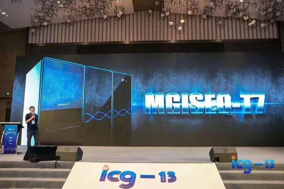 Jian Liu, vicepresidente ejecutivo de MGI, presentó el MGISEQ-T7 (PRNewsfoto/BGI)
