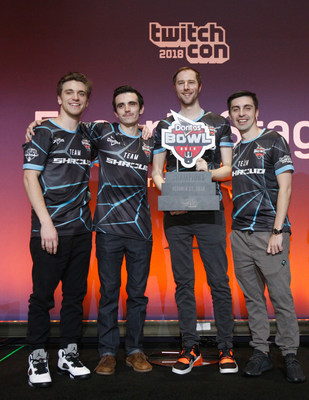 SAN JOSE, CA - OCTOBER 27: Team Shroud wins the Doritos Bowl at TwitchCon 2018 held at San Jose McEnery Convention Center on October 27, 2018 in San Jose, California. (Photo by Kimberly White/Getty Images for Frito-Lay North America)