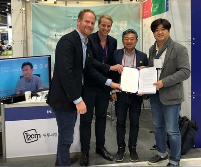 12CM, a member company of the K-ICT Born2Global Centre, signed an MOU with Lucrion GmbH, a German marketing company, and Heptagon Square, a Netherlands-based IT firm.