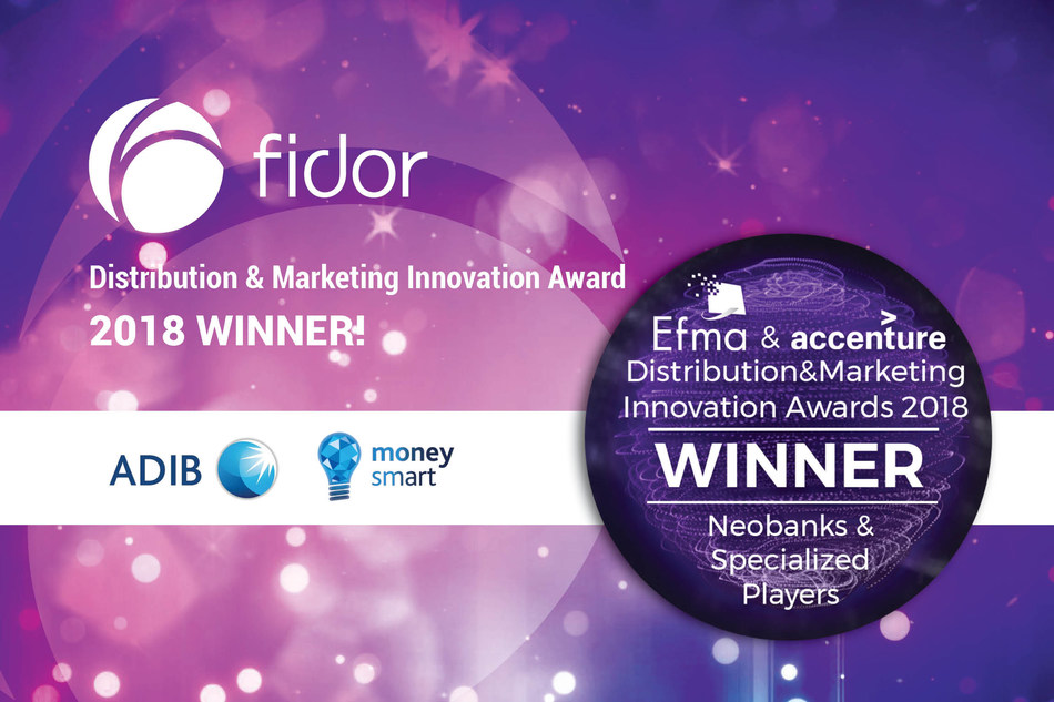EFMA-Accenture Award to Fidor and ADIB's moneysmart.ae for best neobank concept (PRNewsfoto/Fidor Solutions)