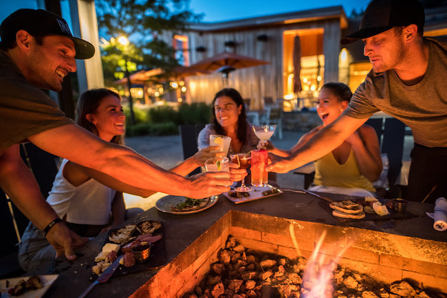 Topnotch Resort in Stowe, VT features two outdoor firepits. Photo by Danielle Visco