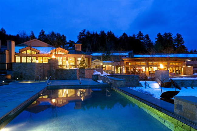 Topnotch Resort in Stowe, VT offers an indoor and outdoor heated pools