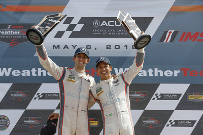 Ricky Taylor & Helio Castroneves win at Mid-Ohio Sports Car Course May 2018/ credit: LAT Photography