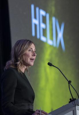 Manon Brouillette, présidente et chef de la direction de Vidéotron devant Le Cercle Canadien de Montréal (Groupe CNW/Vidéotron)