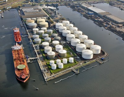 The acquisition of NuStar Europe's Amsterdam terminal provides an attractive entry into the Port of Amsterdam. The Port is the world's largest gasoline blending hub and has experienced significant storage growth over the years. (CNW Group/Inter Pipeline Ltd.)