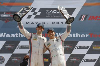 Ricky Taylor y Helio Castroneves triunfan en el circuito del Mid-Ohio Sports Car Course en mayo de 2018/ crédito: LAT Photography