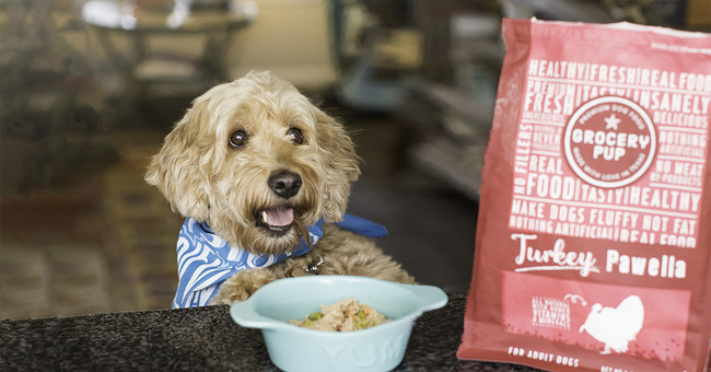Grocery Pup is the first-of-its-kind sous-vide prepared dog food available at retail