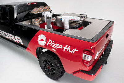 Pizza Hut and Toyota team up at SEMA 2018 to unveil the Tundra PIE Pro, a one-of-a-kind, zero-emission mobile pizza factory.