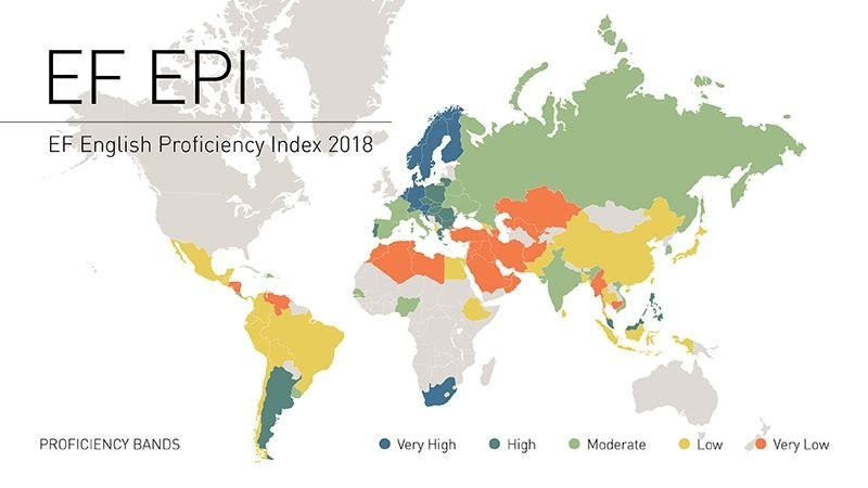 Sweden Returns to Top Spot in World Ranking of English Proficiency Reveals EF's Annual Proficiency Index