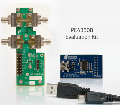 The pSemi PE43508 is the world's first single-chip SOI DSA to support the entire 9 kHz to 55 GHz frequency range.