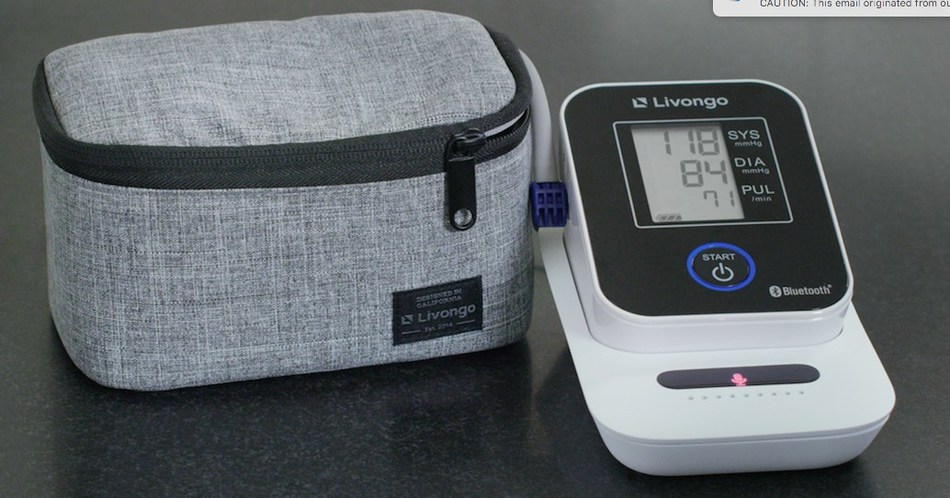 Livongo's voice-enabled cellular blood pressure monitoring system