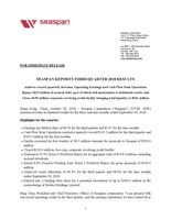 Q3 Earnings Release PDF Version (CNW Group/Seaspan Corporation)