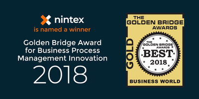 Nintex today announced the company received a 2018 Golden Bridge Award for Business Process Management Innovation. This award recognizes the business impact of Nintex's workflow automation, document automation, and digital forms capabilities combined with its new visual process mapping solution, referred to as Nintex Promapp™.