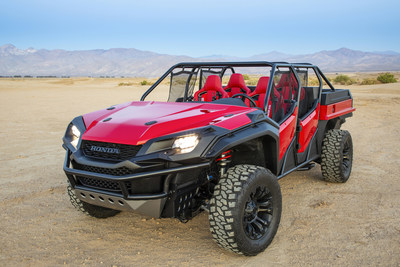 Honda debuted the Rugged Open Air Vehicle concept at the 2018 SEMA Show in Las Vegas today. The concept merges light-truck and side-by-side vehicles to create the ultimate open-air off-road Honda.