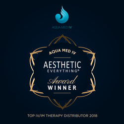 Aqua Med IV receives Top IV and IM Distributor award in the prestigious 2018 Aesthetic Everything® Awards