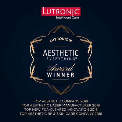Lutronic Obliterates the Competition in 2018 Aesthetic Everything® Awards with Top Honors in 8 Categories