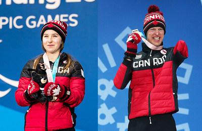 Mollie Jepsen (à gauche) et Mark Arendz (à droite) ont été nommés meilleure athlète féminine et meilleur athlète masculin aux Prix du sport paralympique canadien de 2018. (Groupe CNW/Canadian Paralympic Committee (Sponsorships))
