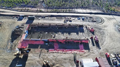 Concentrator Foundation Under Construction (CNW Group/eCobalt Solutions Inc.)
