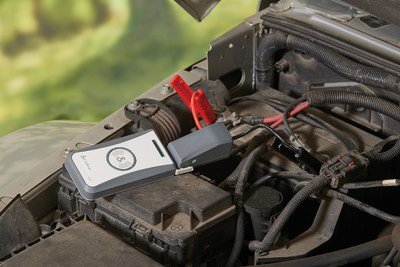The new Cobra JumPack® mini, the first wireless charging and Quick Charge® compatible portable jump starter on the market.  Cobra JumPack mini will jump start most cars & trucks with up to 8-cylinder engines.