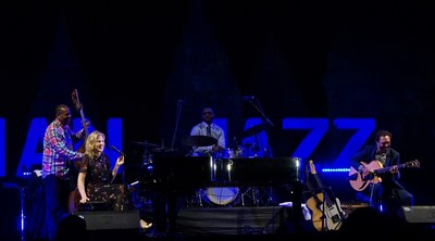 Diana Krall performed at Prambanan Jazz Festival 2018