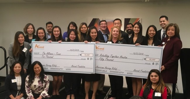 Ascend Foundation& Reinforces& Commitment to Houston Asian Community Residents Impacted by 2017's Hurricane Harvey