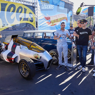 At SEMA Auto Show in Las Vegas, Hot Wheels unveiled Luis Rodriguez's custom 2JetZ as the winner of the first Hot Wheels Legends Tour. The 2JetZ will be immortalized as a die-cast toy car and sold in 2019.