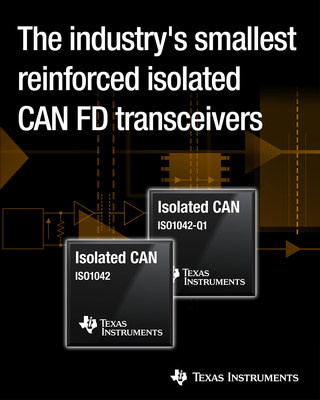 Engineers can increase communication reliability and protection in industrial and automotive systems with TI's new transceivers.