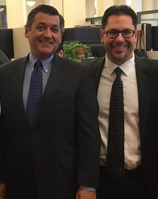 José Cisneros, Treasurer of the City and County of San Francisco (left)