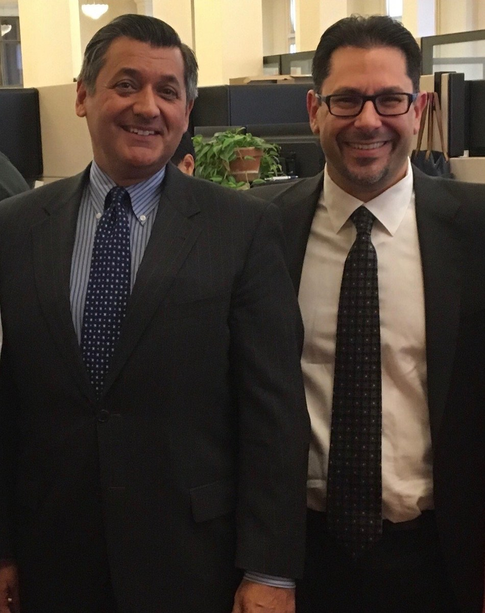 José Cisneros, Treasurer of the City and County of San Francisco (left) Carl A. Briganti, President of CSS, Inc. (right)