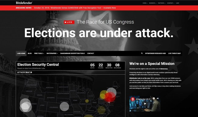 Elections are under attack (PRNewsfoto/Bitdefender)
