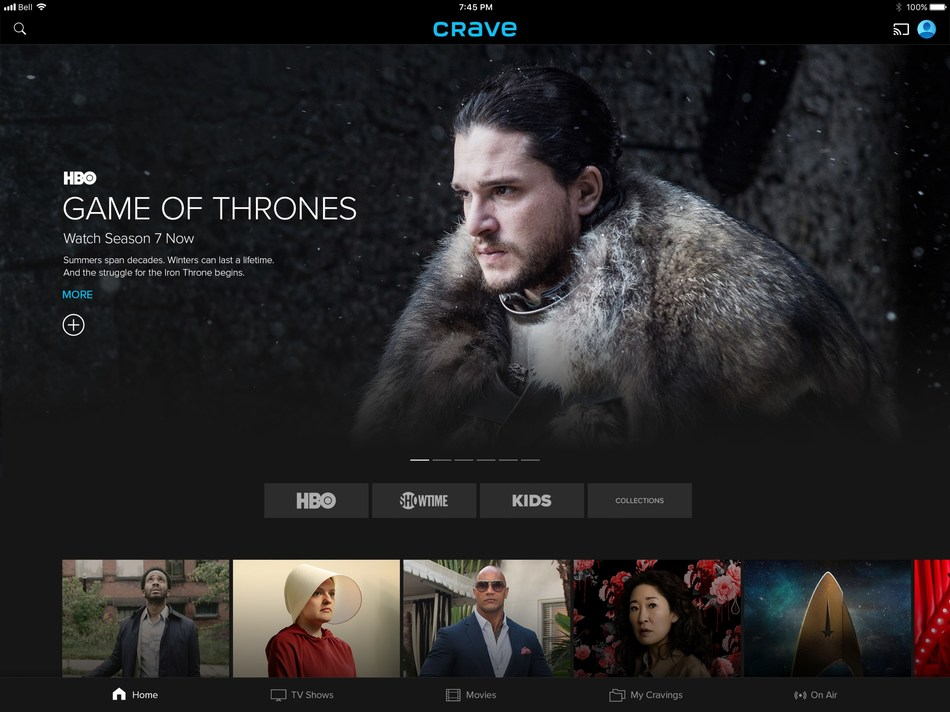 All-new Crave home page user interface (CNW Group/Crave)