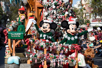 HOLIDAYS AT THE DISNEYLAND RESORT (Anaheim, Calif.) - The Holidays begin here at the Disneyland Resort, bringing seasonal magic to the Happiest Place on Earth Nov. 9, 2018, through Jan. 6, 2019. Guests will experience many classic holiday traditions, including ?A Christmas Fantasy? Parade, performed daily at Disneyland Park. (Matt Petit/Disneyland Resort)
