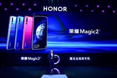 O Honor Magic2 foi apresentado oficialmente na China por George Zhao, Presidente da Honor. (PRNewsfoto/Honor)
