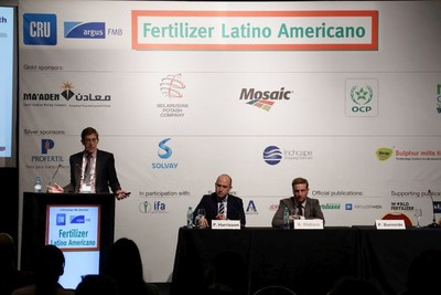 Industry expert speakers, led by Paul Burnside, give their views on the market at the Fertilizer Latino Americano Conference 2017