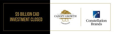 Investissement de 5 milliards de dollars canadiens (4 milliards de dollars US) de la part de Constellation Brands dans Canopy Growth à la suite de l'approbation des actionnaires et du Gouvernement du Canada (Groupe CNW/Canopy Growth Corporation)
