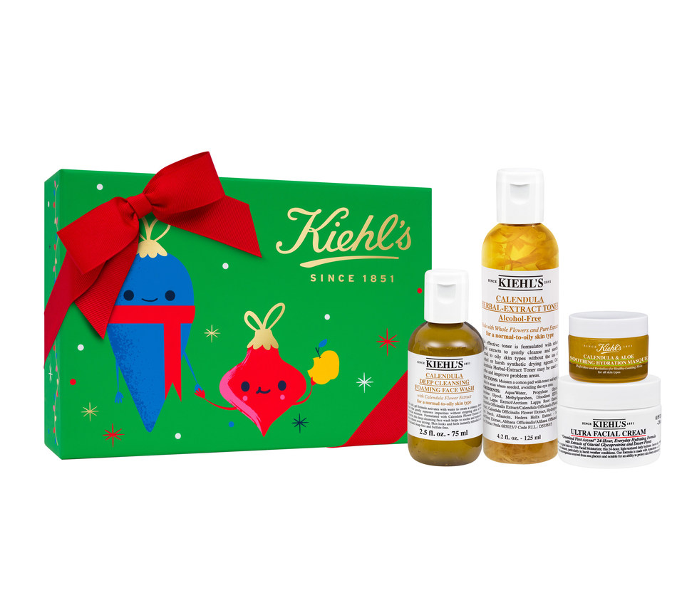 Kiehl's Limited Edition Collection for a Cause to benefit Feeding America is $50 and provides 408 Meals to families this holiday season.  ($1 helps provide at least 10 meals secured by Feeding America on behalf of local member food banks.) The limited edition skin care set features Kiehl's customer favorite Calendula formulations--Calendula Deep Cleansing Foaming Facial Cleanser, Calendula Herbal Extract Alcohol-Free Toner, Calendula & Aloe Soothing Hydration Masque and Ultra Facial Cream.