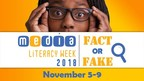 This year's Media Literacy Week theme is Fact or Fake: Help the World Stop Misinformation in Its Tracks. From November 5 to 9, the Canadian Teachers' Federation and MediaSmarts are highlighting the importance of teaching children and teens digital and media literacy skills. (CNW Group/Canadian Teachers' Federation)