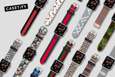 CASETiFY Launches Largest Collection of Apple Watch Bands Compatible with New Series 4 and Series 1-3