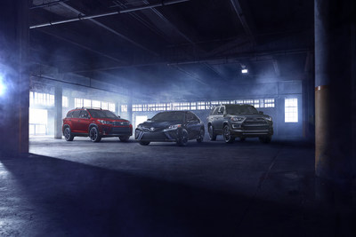 The 2019 Camry and Highlander will both get Nightshade Special Edition packages that offer sporty styling with black accents.