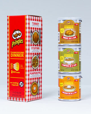 Last Thanksgiving, Pringles® showed the world they deserve a seat at the table when they launched the Pringles Thanksgiving Dinner. The limited time only offering gave snackers the chance to taste eight new innovative, Thanksgiving-inspired flavors. This year, Pringles is upping the ante and giving fans a chance to get their hands on a can (or three) of favorites from last year's lineup: Turkey, Stuffing, and Pumpkin Pie.