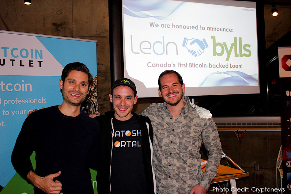 Founders of Ledn & Satoshi Portal at the announcement event.  Photo Credit: Cryptonews (CNW Group/Ledn Inc.)