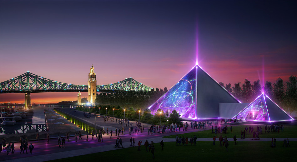 Next June, Montreal will be home to a new innovative and transcendent entertainment venue shaped as a pyramid. The PY1 experience is an original concept developed by Lune Rouge Entertainment (founded by Guy Laliberté). (CNW Group/Lune Rouge)
