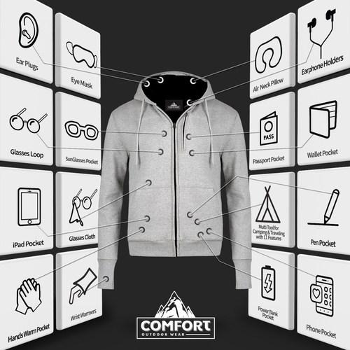 Camping & Traveling Jacket by Human & Company Inc.