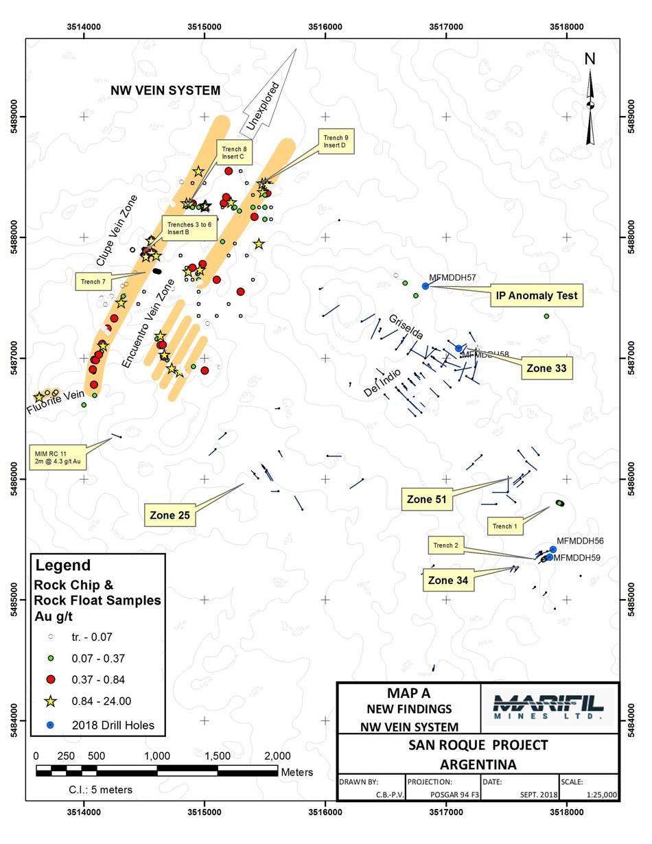 Map A (PRNewsfoto/Marifil Mines)