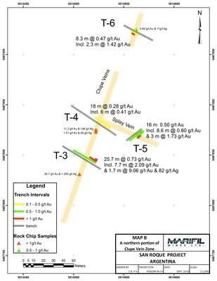 Map B (PRNewsfoto/Marifil Mines)