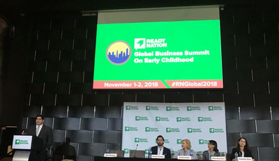 Primrose Schools CEO Jo Kirchner (third from left) participates in a panel on social entrepreneurship in early childhood at the 2018 ReadyNation Global Business Summit on Early Education hosted by the Council for a Strong America on Nov. 2, 2018. Primrose Schools, a national high-quality early education and care provider, has nearly 400 schools across the U.S.