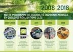 2008 - 2018 Notre programme de durabilité environnementale en quelques réalisations clés (Groupe CNW/CBC/Radio-Canada)